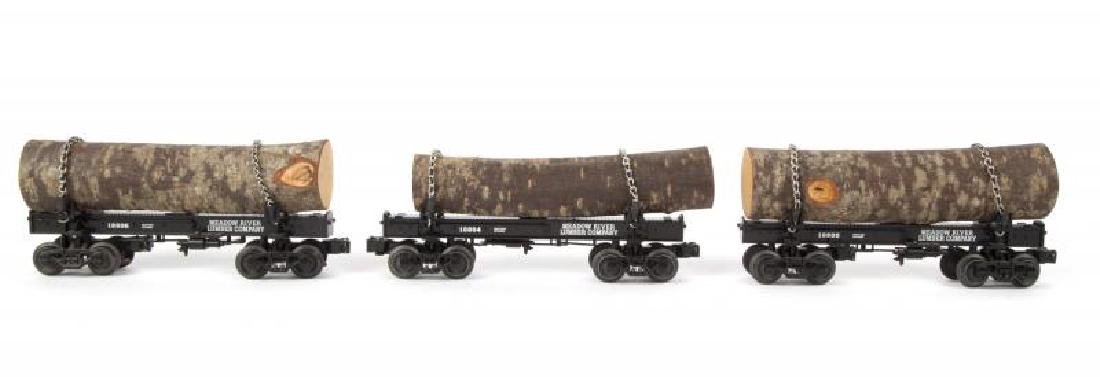 LIONEL MEADOW RIVER DIE-CAST LOG CAR 3-PACK