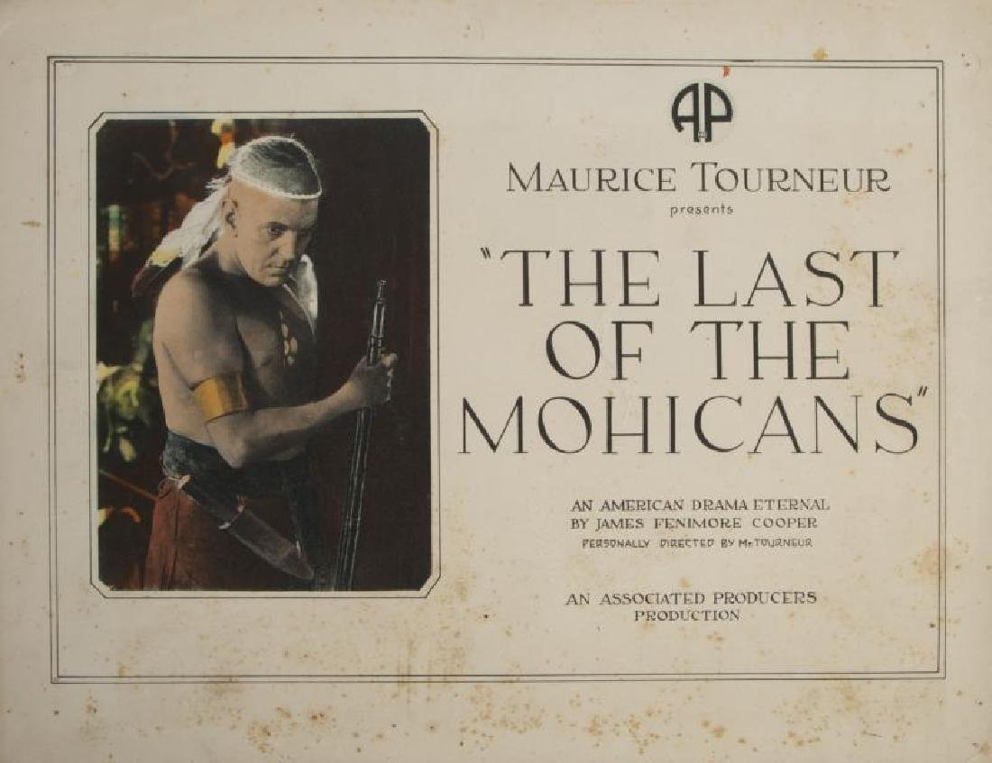 LAST OF THE MOHICANS LOBBY CARDS