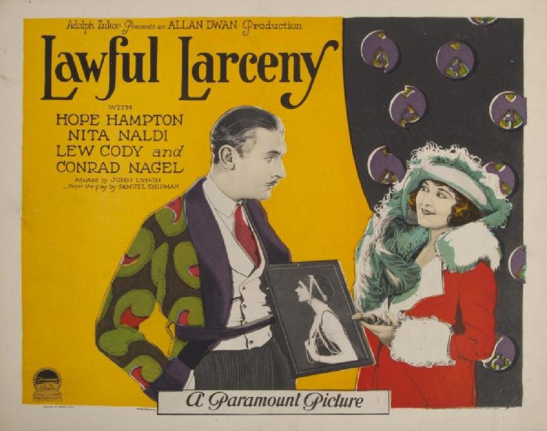 LAWFUL LARCENY LOBBY CARDS