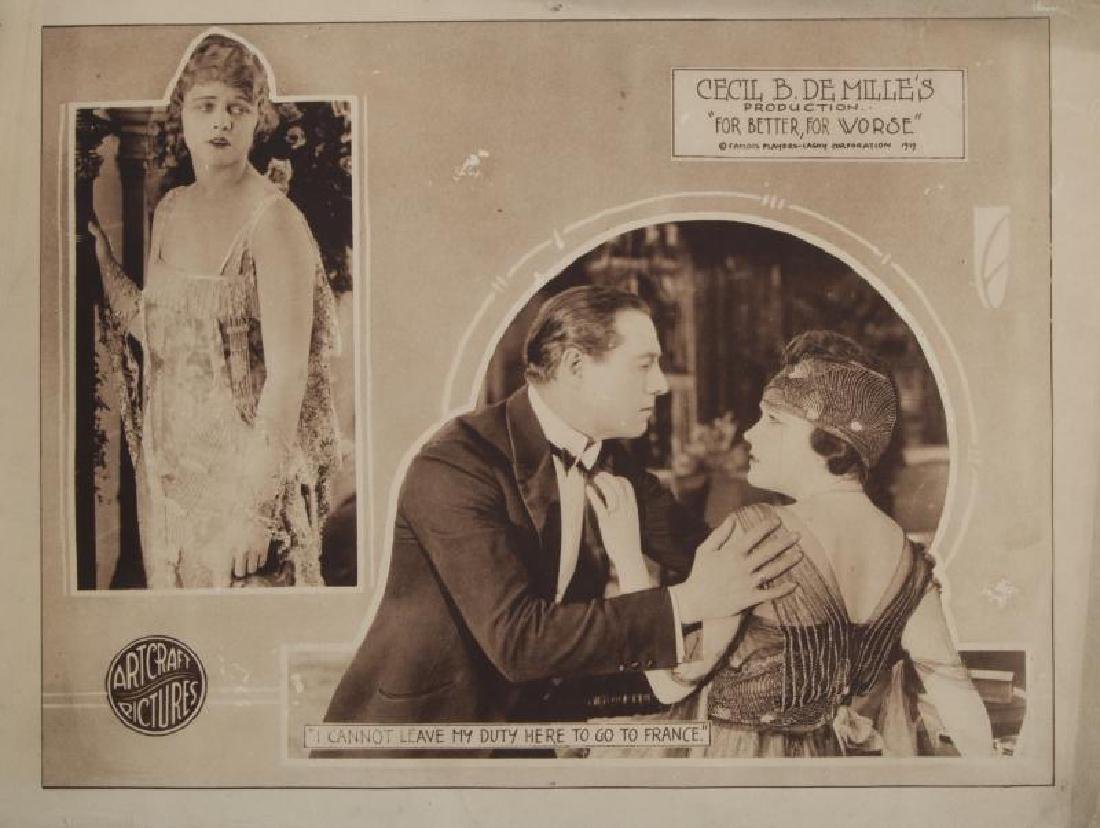 CECIL B. DEMILLE SILENT FILM LOBBY CARDS - 3