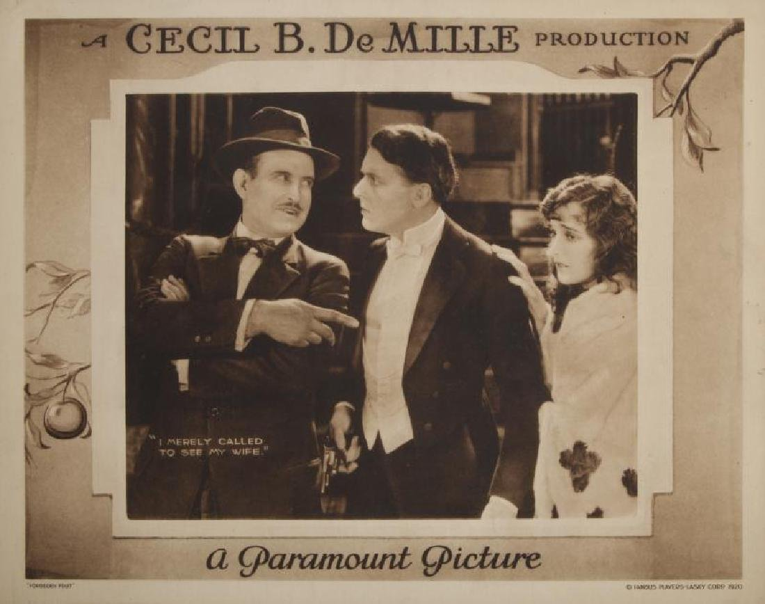 CECIL B. DEMILLE SILENT FILM LOBBY CARDS - 4