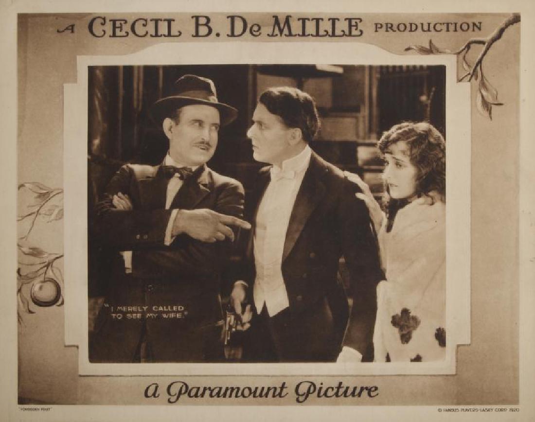 CECIL B. DEMILLE SILENT FILM LOBBY CARDS - 4