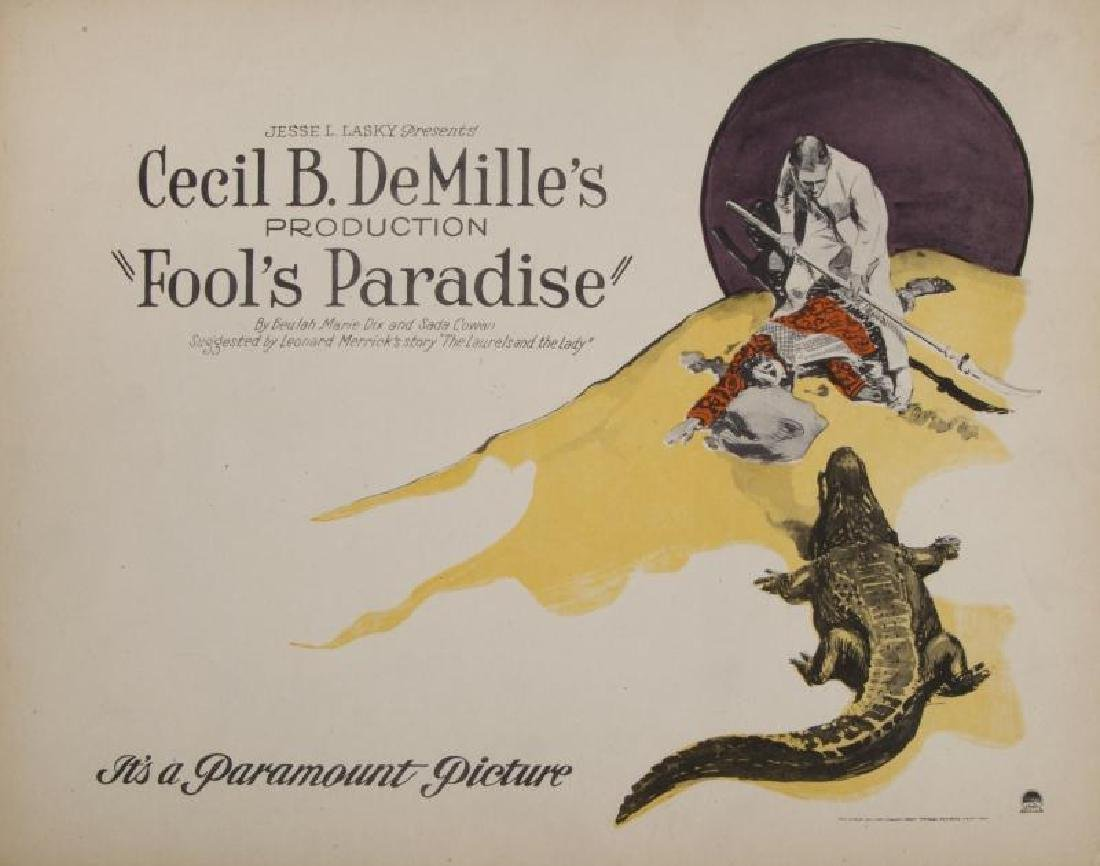 CECIL B. DEMILLE SILENT FILM LOBBY CARDS - 5