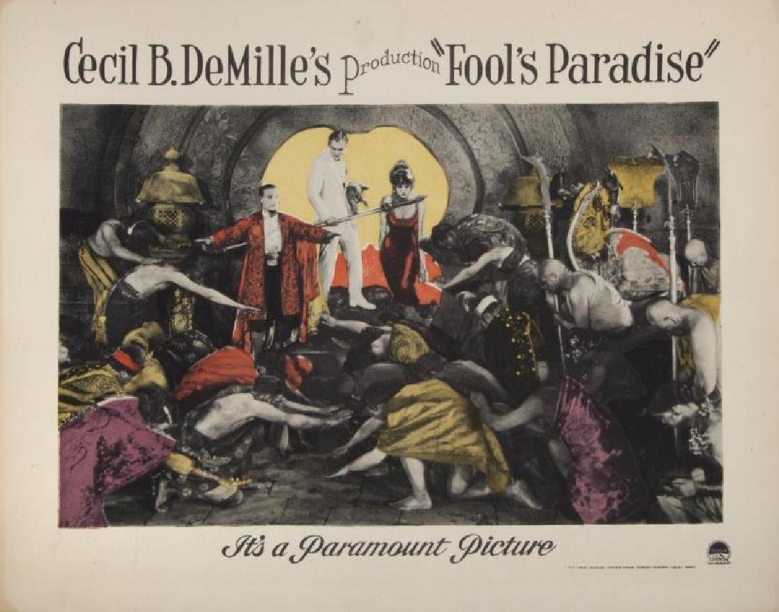 CECIL B. DEMILLE SILENT FILM LOBBY CARDS - 6