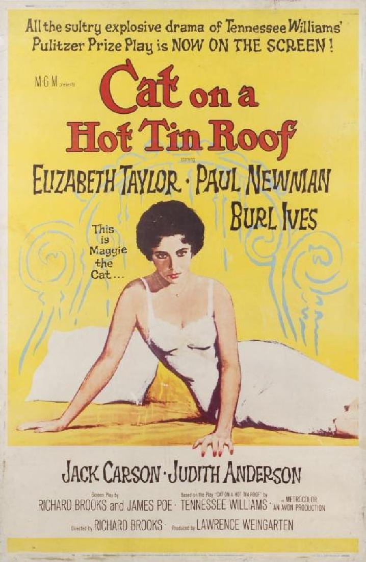 CAT ON A HOT TIN ROOF POSTER