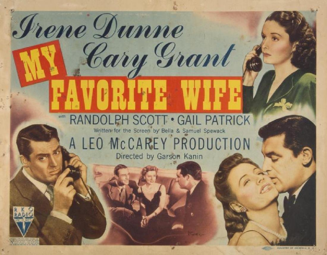 CARY GRANT MY FAVORITE WIFE LOBBY CARDS