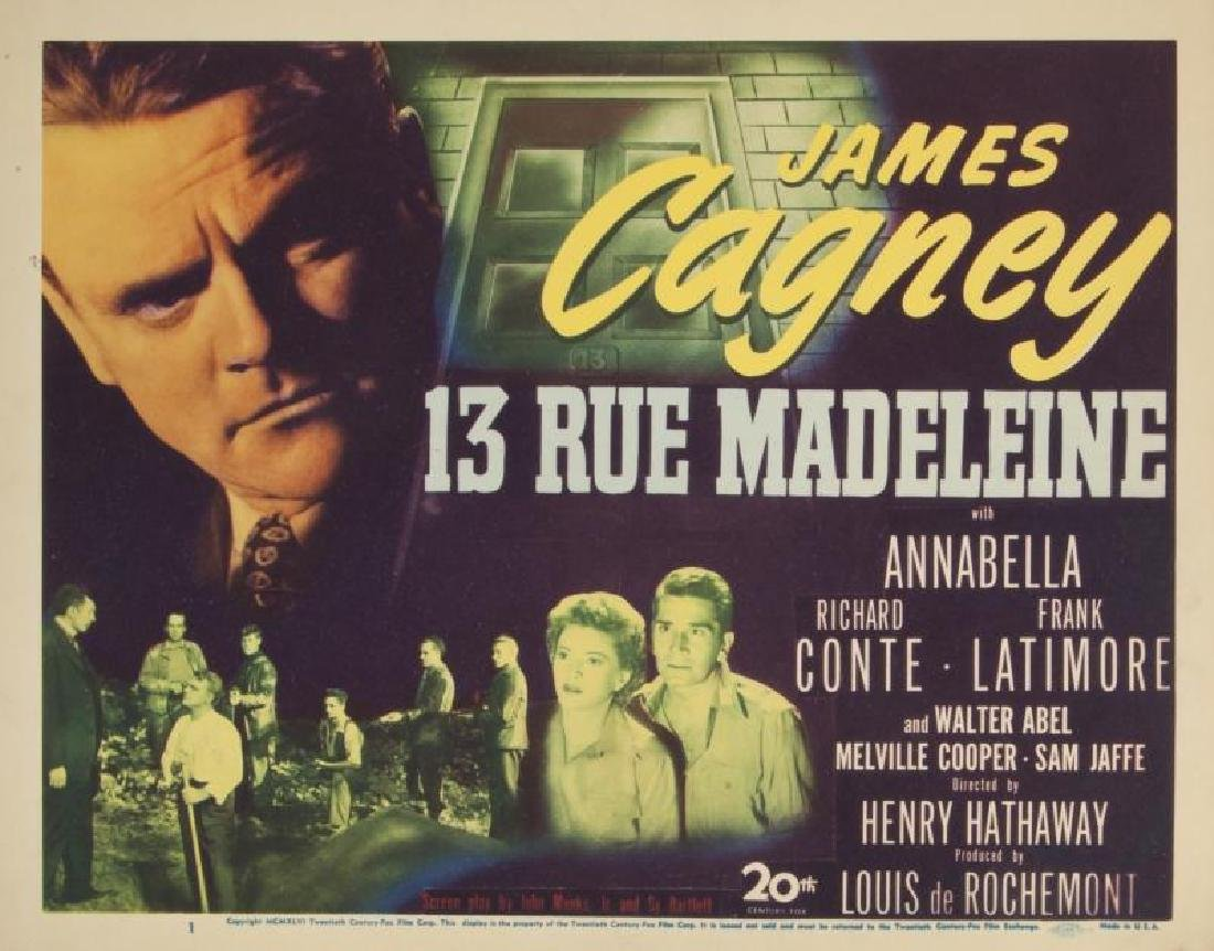 JAMES CAGNEY CRIME FILM LOBBY CARDS