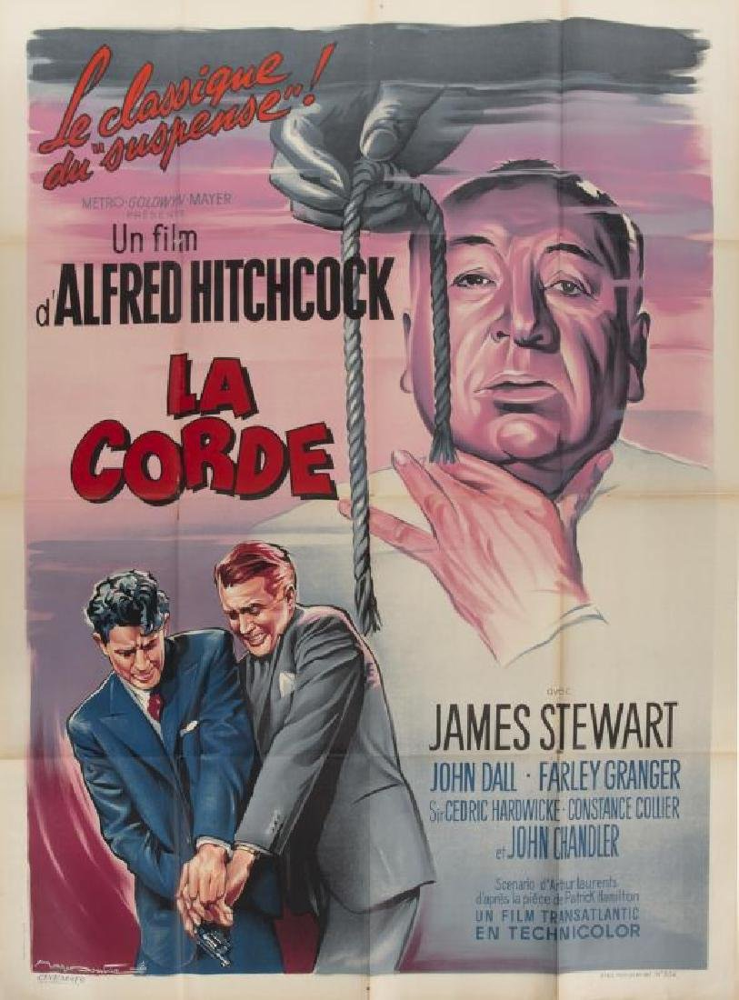 ALFRED HITCHCOCK ROPE POSTER