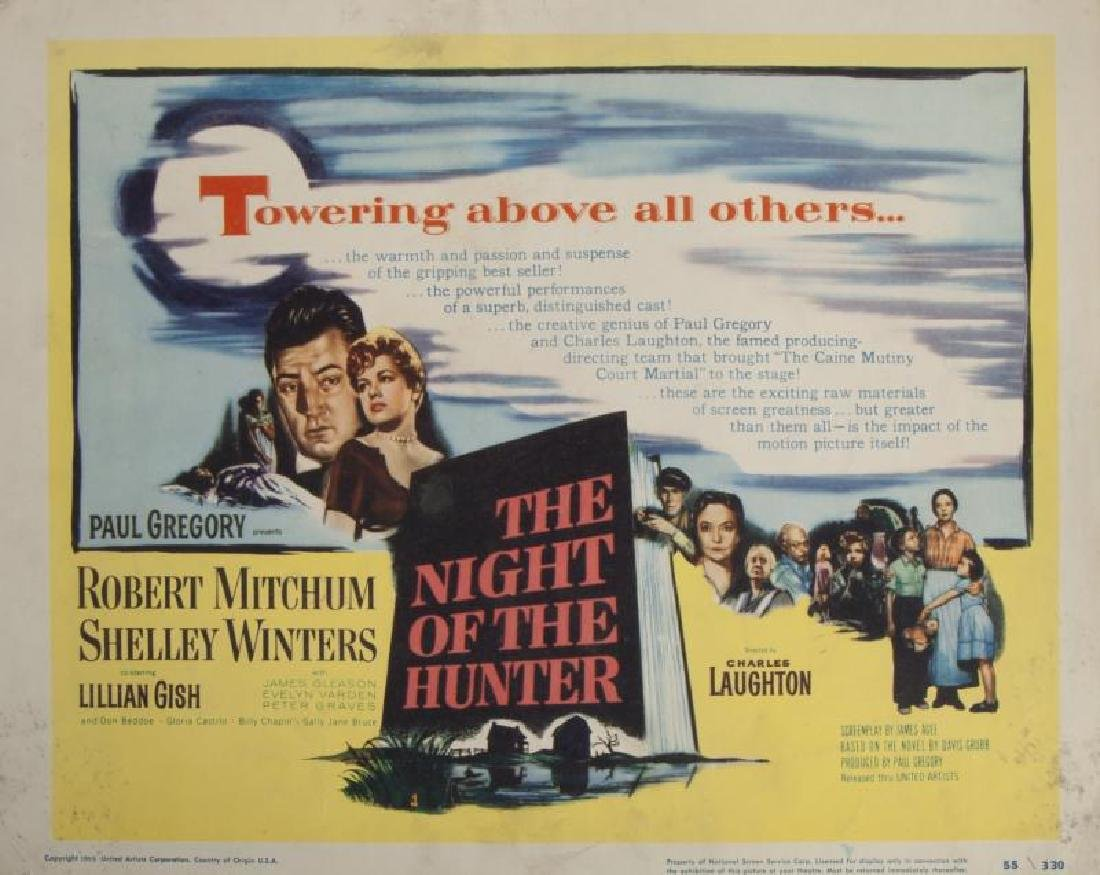 NIGHT OF THE HUNTER LOBBY CARDS