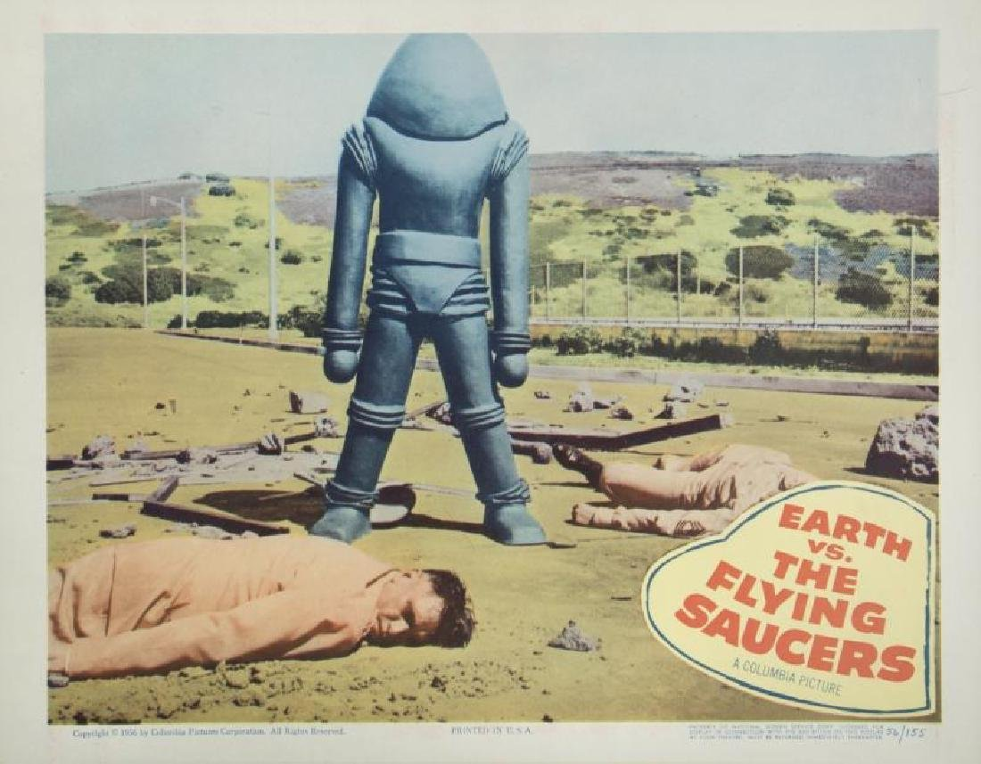EARTH VS. THE FLYING SAUCERS LOBBY CARDS