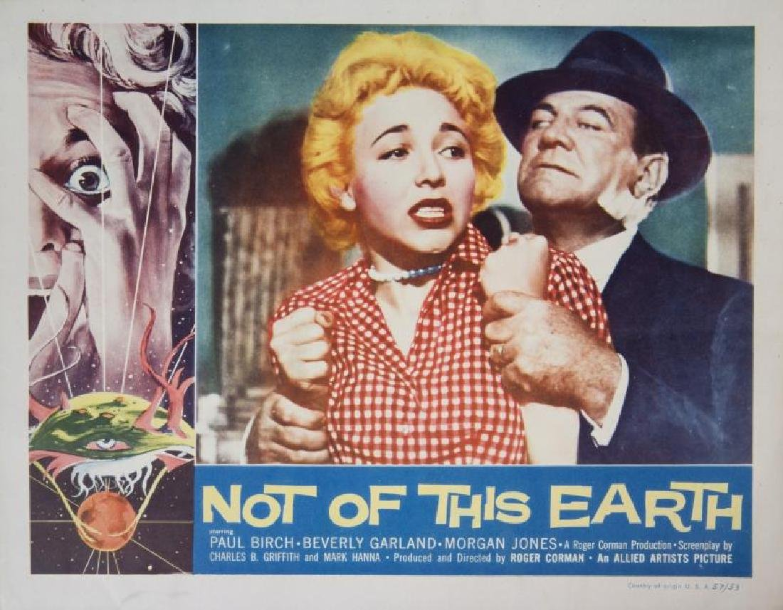 NOT OF THIS EARTH LOBBY CARDS - 2