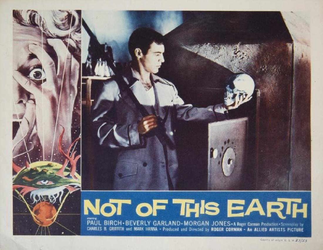 NOT OF THIS EARTH LOBBY CARDS - 3