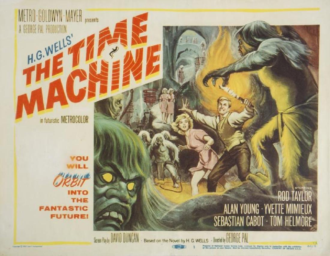 TIME MACHINE LOBBY CARDS