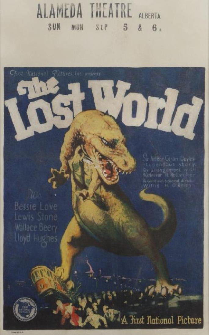 THE LOST WORLD WINDOW CARD POSTER