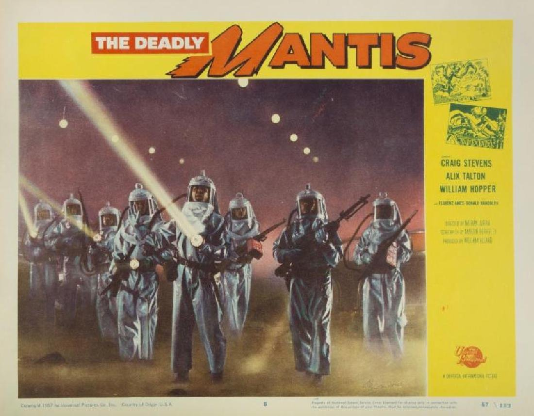 DEADLY MANTIS LOBBY CARDS