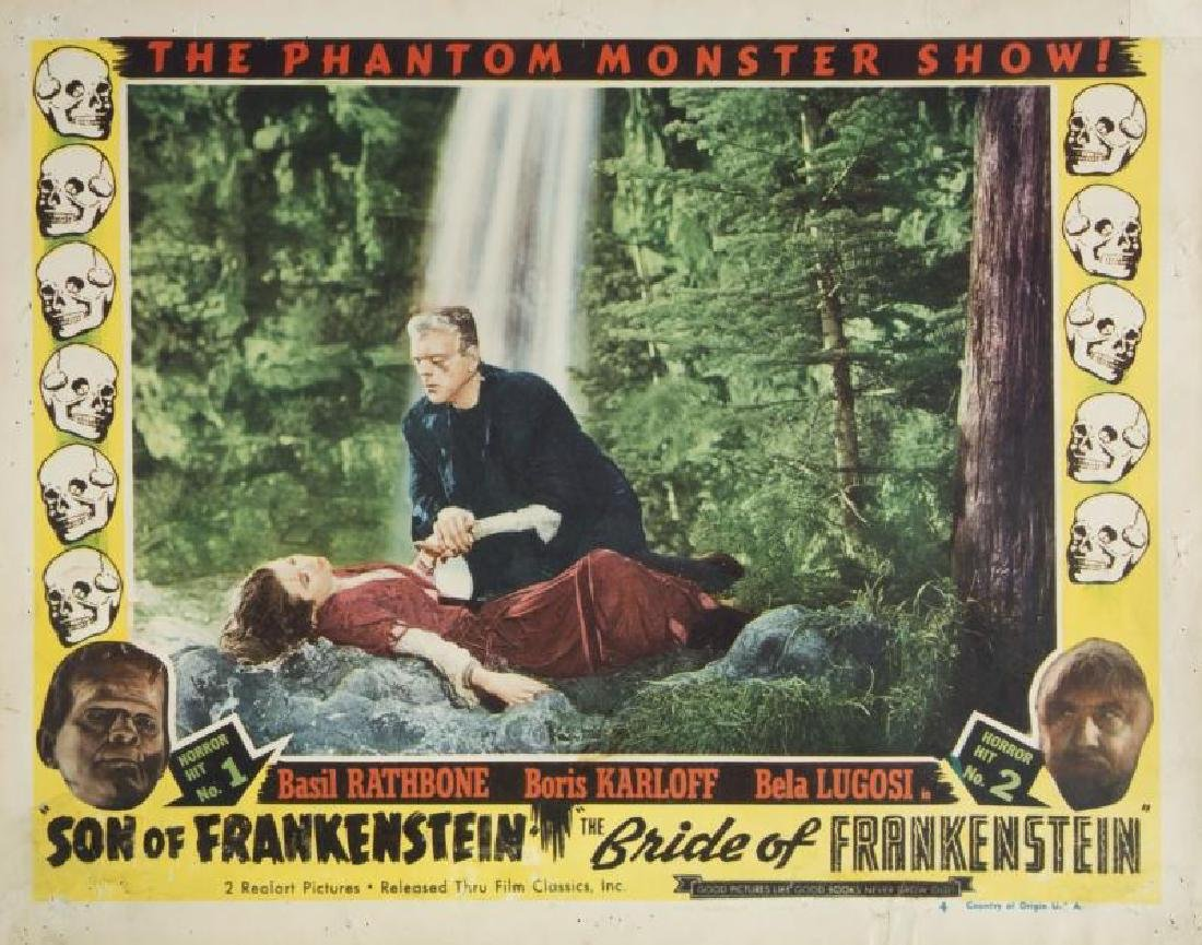 SON OF FRANKENSTEIN AND BRIDE OF FRANKENSTEIN LOBBY