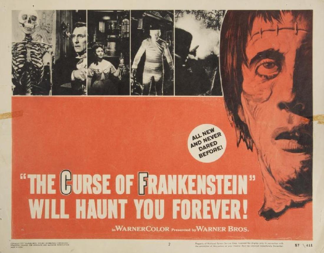 CURSE OF FRANKENSTEIN LOBBY CARDS