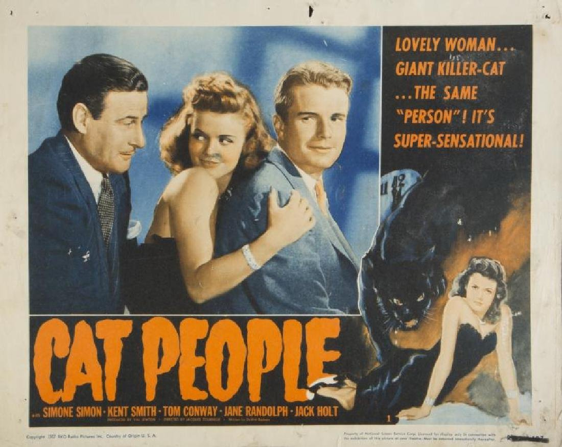 CAT PEOPLE LOBBY CARDS