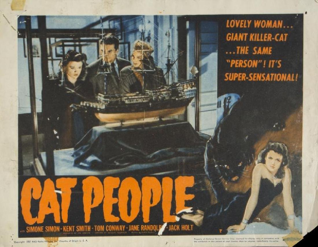 CAT PEOPLE LOBBY CARDS - 2