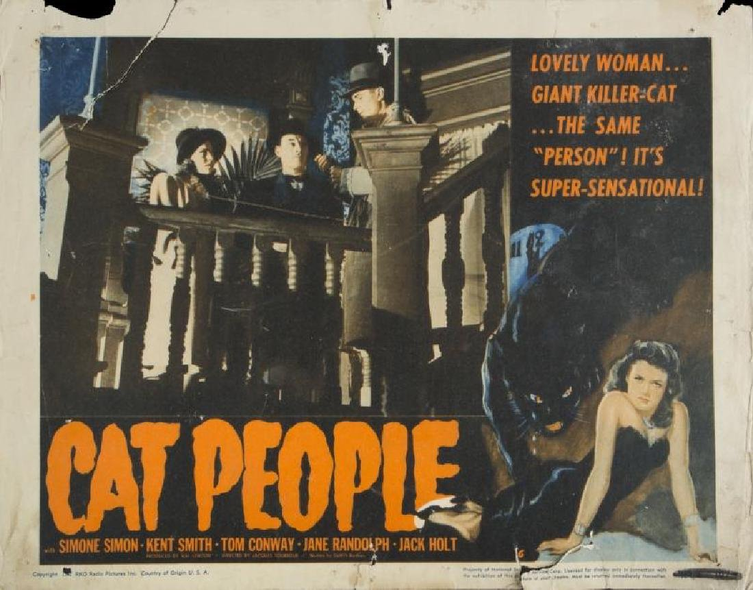 CAT PEOPLE LOBBY CARDS - 3