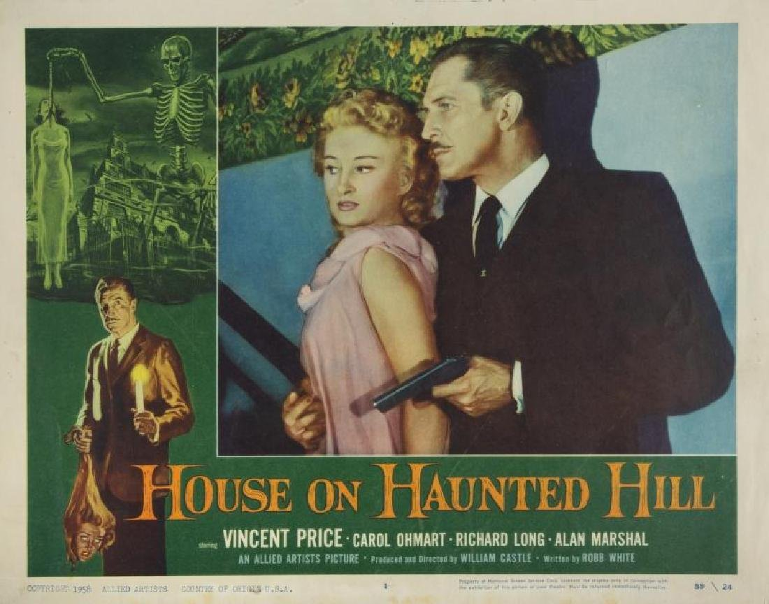 HOUSE ON HAUNTED HILL LOBBY CARD
