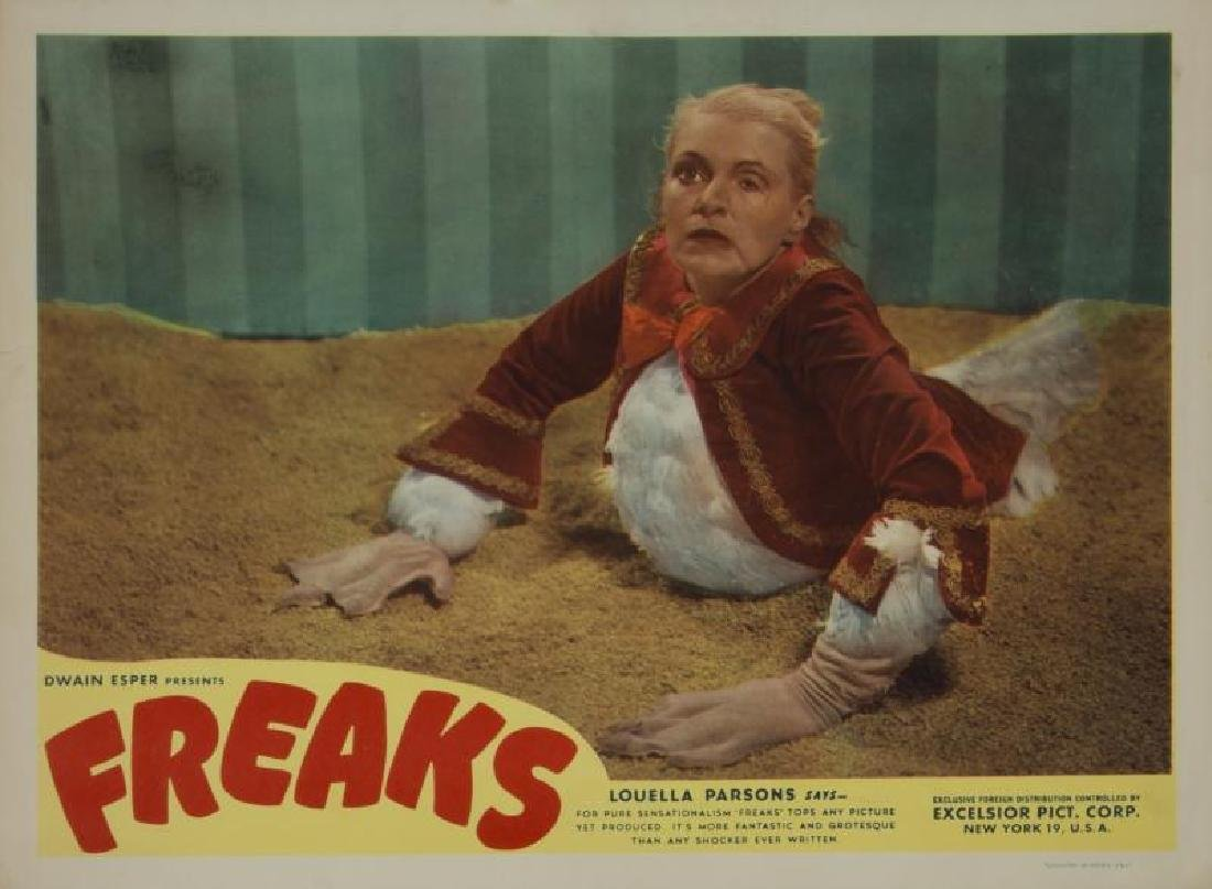 FREAKS LOBBY CARDS AND ADVERTISEMENT