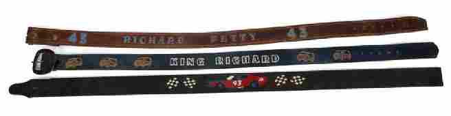 RICHARD PETTY WORN BELTS, GROUP OF THREE