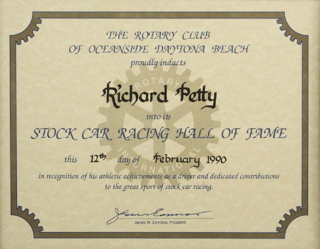 RICHARD PETTY FRAMED CERTIFICATES, GROUP OF FIVE - 4