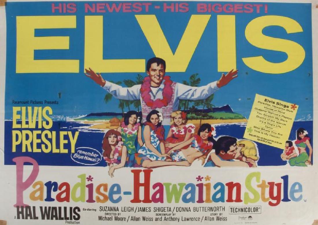 ELVIS PRESLEY PARADISE - HAWAIIAN STYLE POSTER