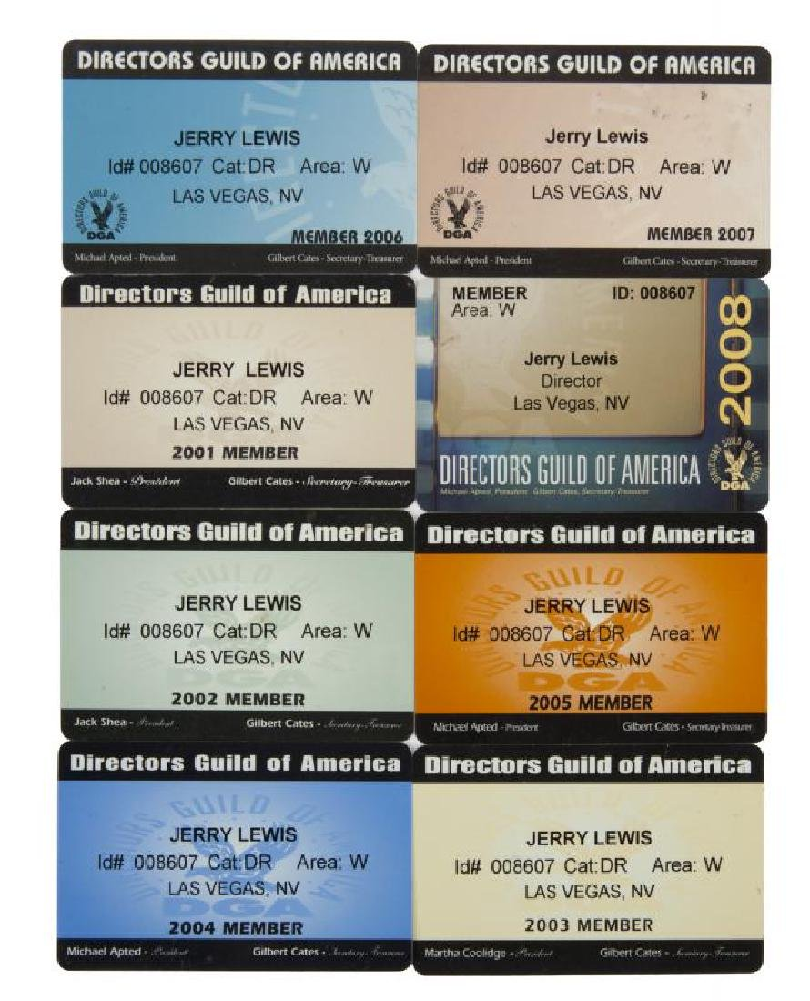 JERRY LEWIS DIRECTORS GUILD OF AMERICA CARDS