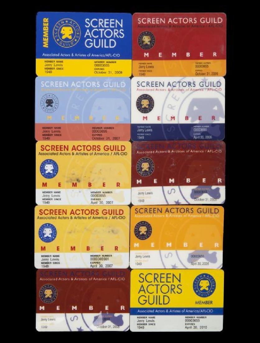 JERRY LEWIS SCREEN ACTORS GUILD CARDS