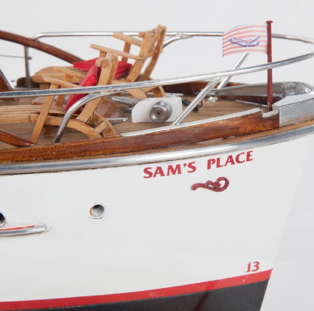 "JERRY LEWIS ""SAM'S PLACE"" MODEL YACHT - 5"