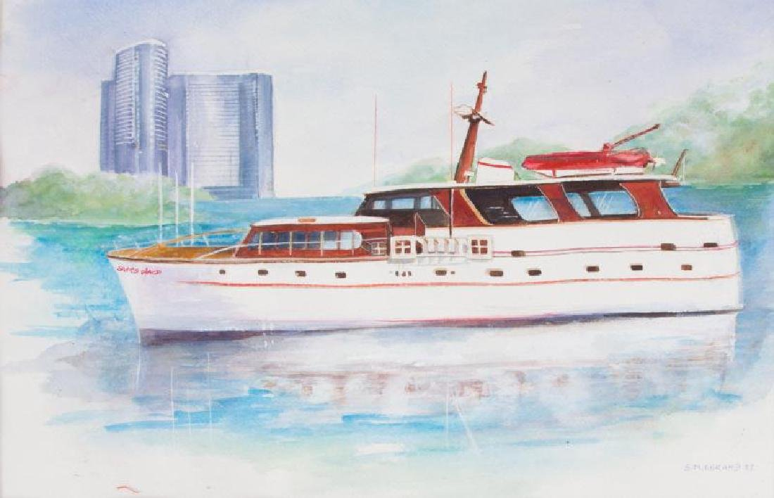 "JERRY LEWIS ""SAM'S PLACE"" MODEL YACHT - 6"