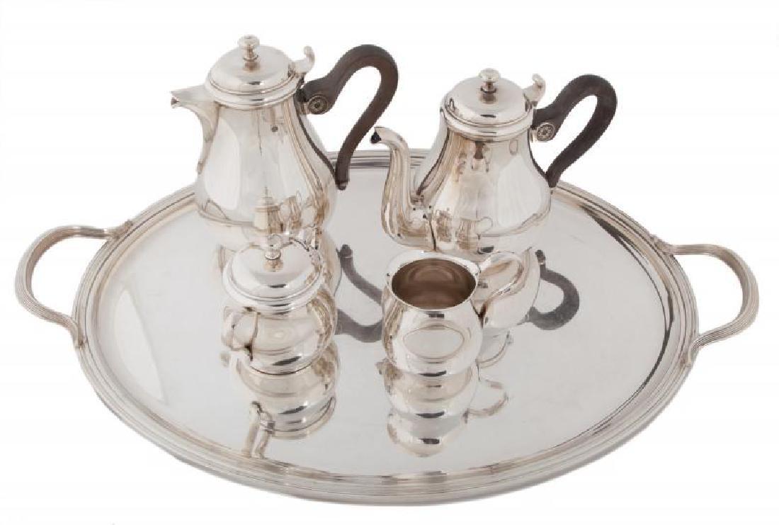 JERRY LEWIS CHRISTOFLE SIVER-PLATE TEA SET - 2