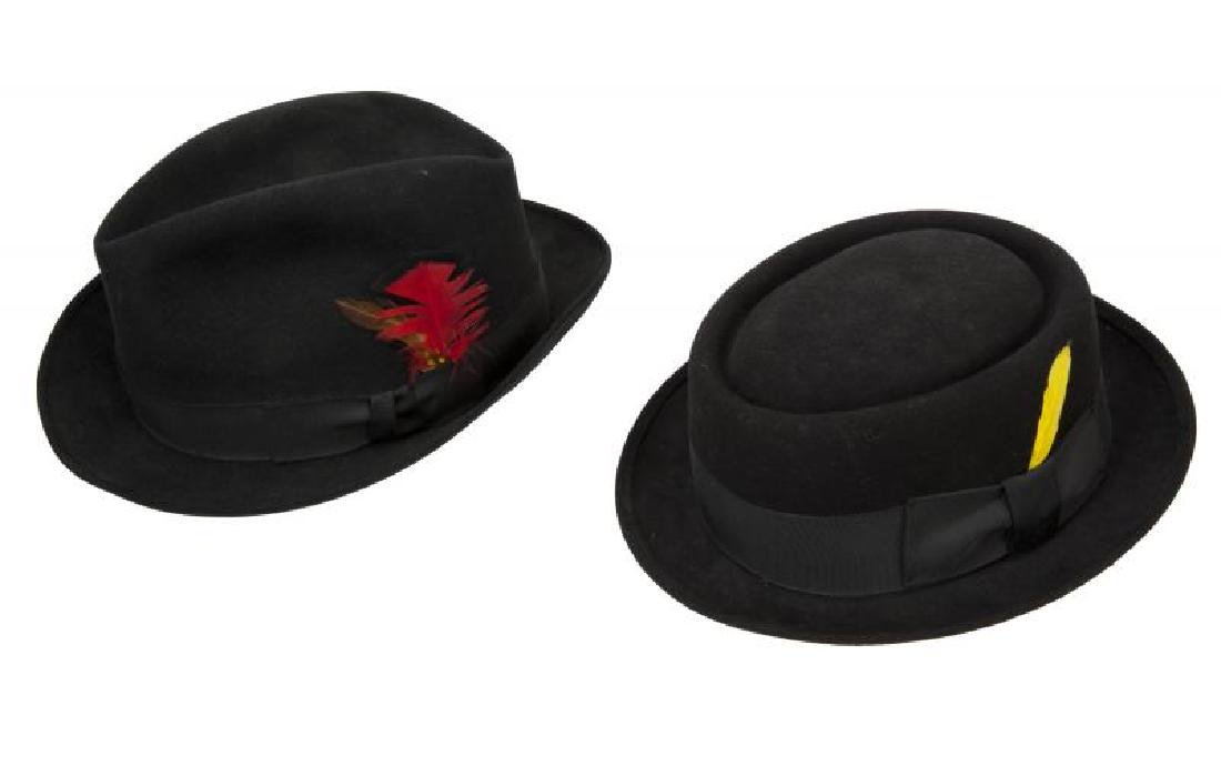 JERRY LEWIS PAIR OF FEDORAS
