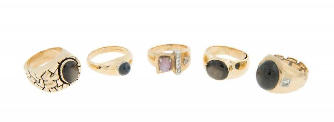 JERRY LEWIS GOLD AND GEMSET RINGS
