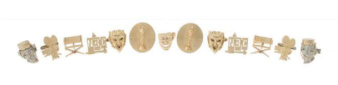 JERRY LEWIS CAREER-RELATED 14K GOLD CUFFLINKS