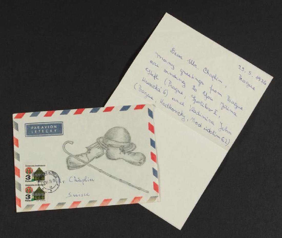 FAN LETTER WITH AN ILLUSTRATED ENVELOPE