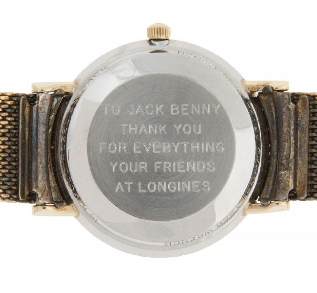 JACK BENNY ENGRAVED LONGINES WATCH - 3
