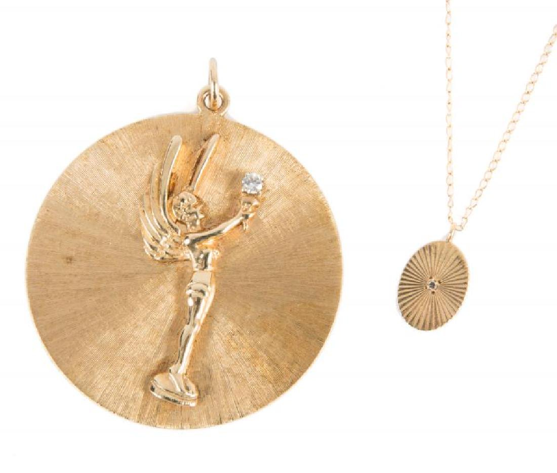JEAN STAPLETON GENII AWARD PENDANT AND GIFTED NECKLACE