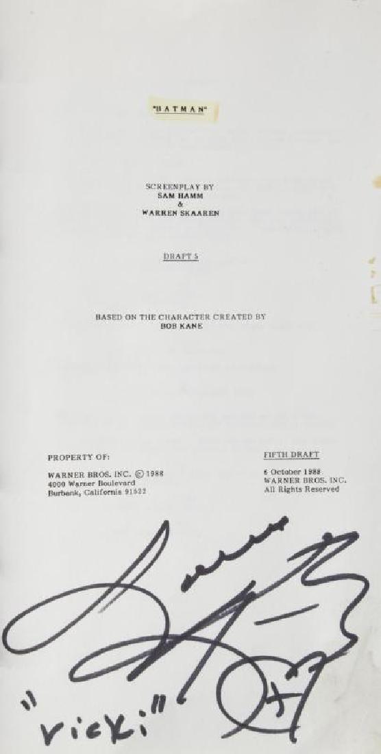 KIM BASINGER BATMAN USED SCRIPT - 3