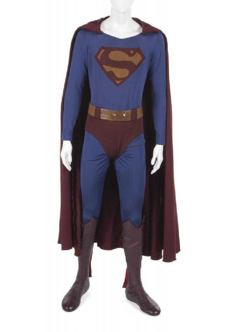 SUPERMAN III COSTUME WORN BY CHRISTOPHER REEVE WITH