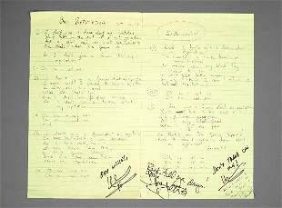 Joan Jett Bad Reputation Handwritten Lyrics