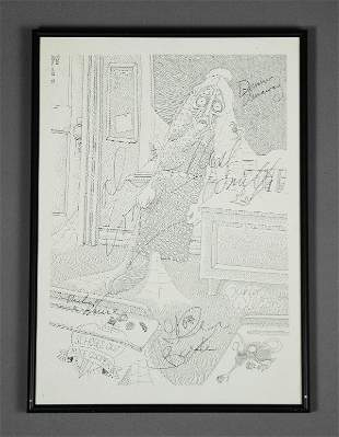 Alice Cooper Schools Out Signed Lithograph