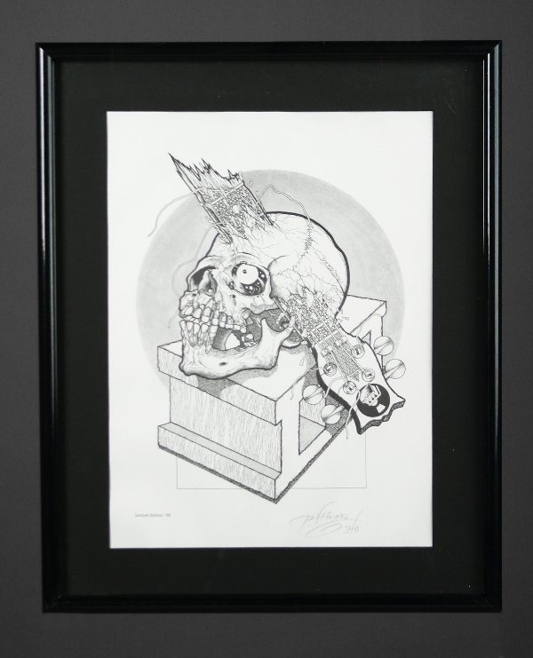 3: Pushead Limited Edition Signed Print