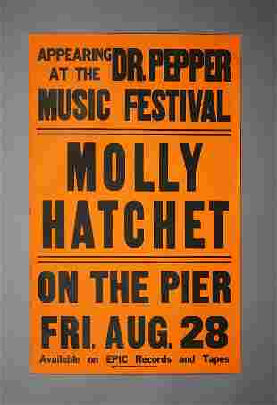 Molly Hatchet Original Tour Poster