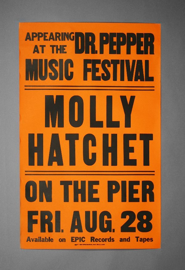 4: Molly Hatchet Original Tour Poster