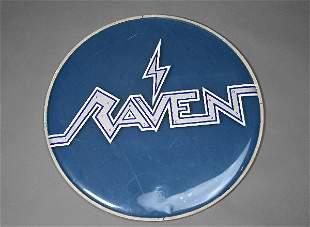 Raven—Vintage Drumhead