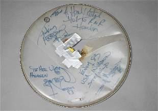 Venom Vintage 1983 Signed Drumhead