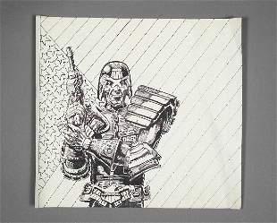 Anthrax Charlie Benante I Am The Law Original Artwo